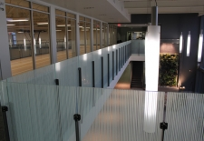 Decorative film installed on banister