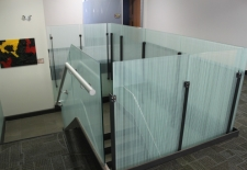 Decorative film installed on stairwell