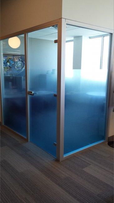 Custom printed blue gradient