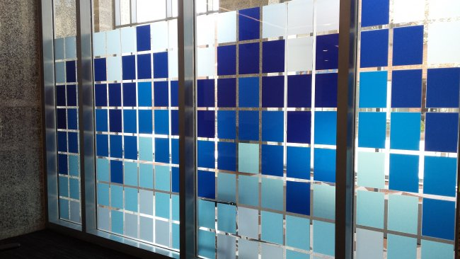 UV Printed privacy pattern