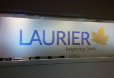 Laurier Logo Printed on Frost