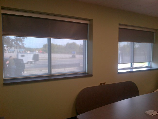 Commercial dual roller shades (2)