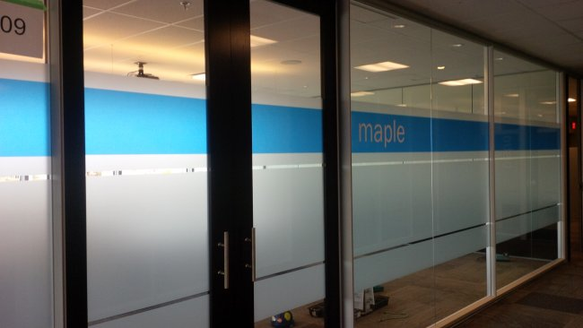Frosted graphics with transparent blue vinyl (2)