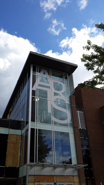Large Exterior Lettering - UofW Hagey Hall