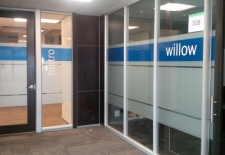 Frosted graphics with transparent blue vinyl (1)