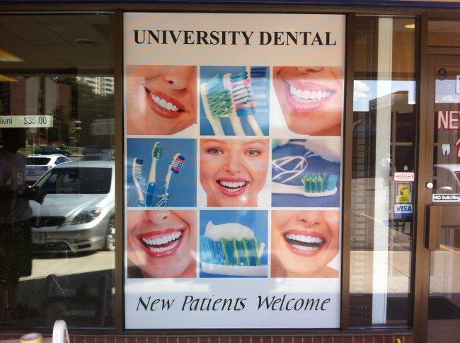 Printed Window Film Dental Office