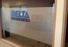 Delta Elevator frosting and custom printed logo