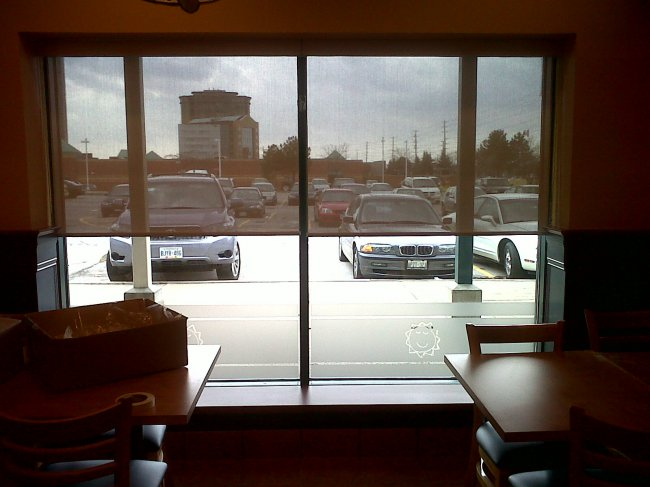 Commercial Application - Roller Shades