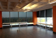 Mapped In - install of ebony roller shades (1)